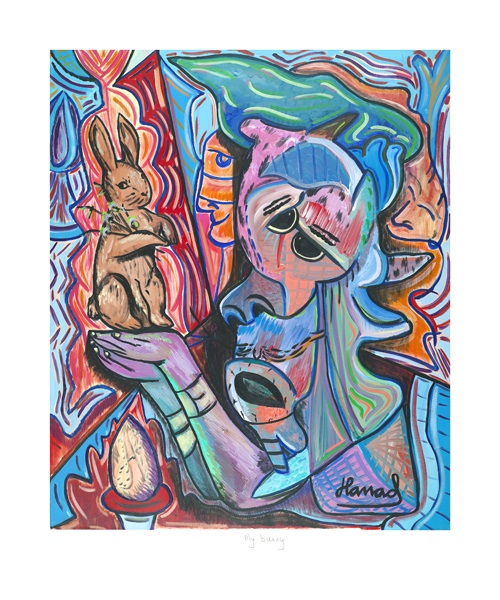 Young Picasso - My Bunny - print